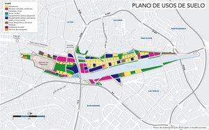 Plano de usos de suelo de Madrid Nuevo Norte.