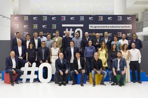 El equipo de profesionales del canal #0, de la plataforma de televisión de pago Movistar+, en la presentación oficial en el Festival de Televisión de Vitoria.