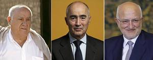 Amancio Ortega, Juan Roig i la seva dona, i Rafael del Pino, les tres fortunes més grans d'Espanya