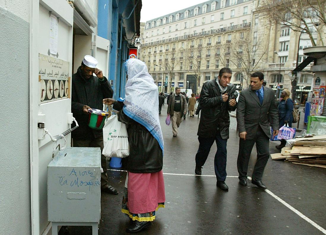 Una mujer musulmana en París.