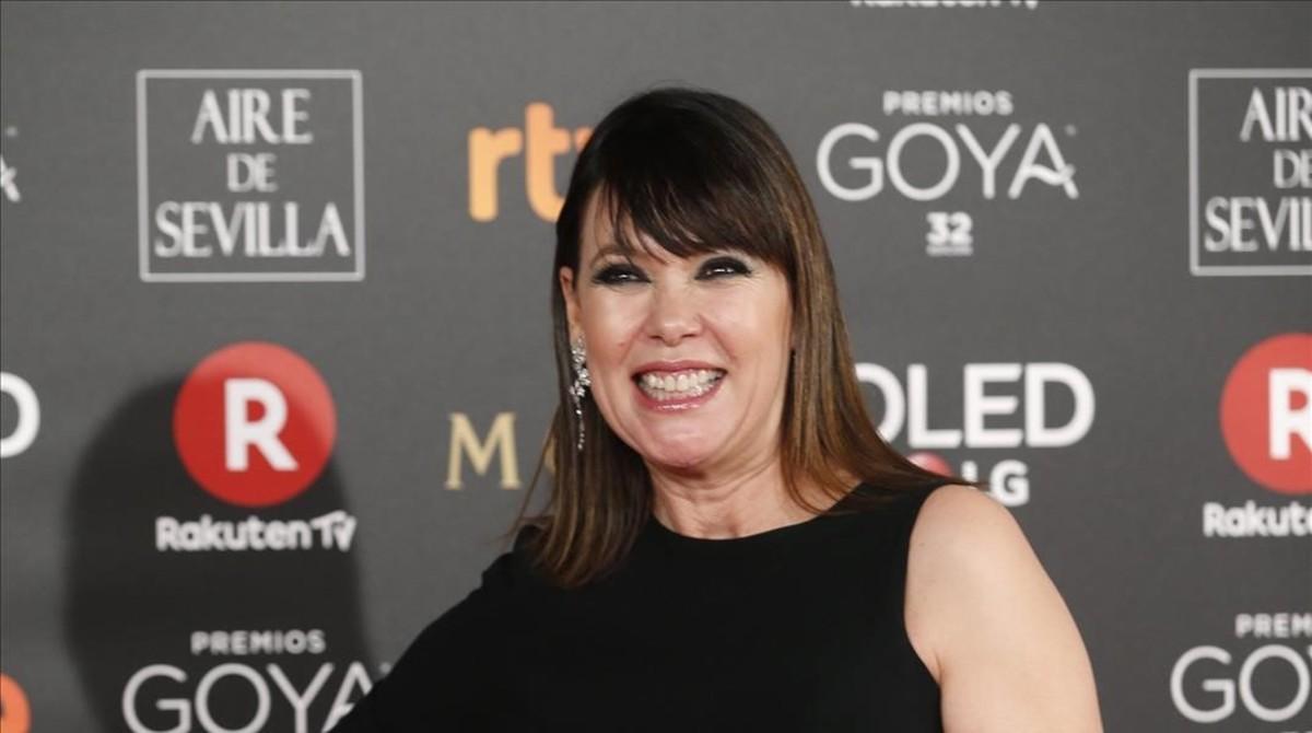 La documentalista Mabel Lozano, en la ceremonia de los premiosGoya 2018.