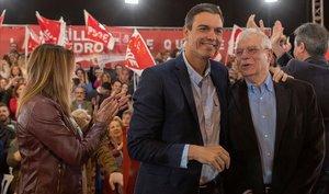 Sánchez, Casado i Abascal es disputen Catalunya com a argument