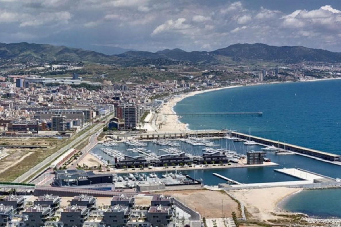 Vista panorámica de la ciudad de Badalona.
