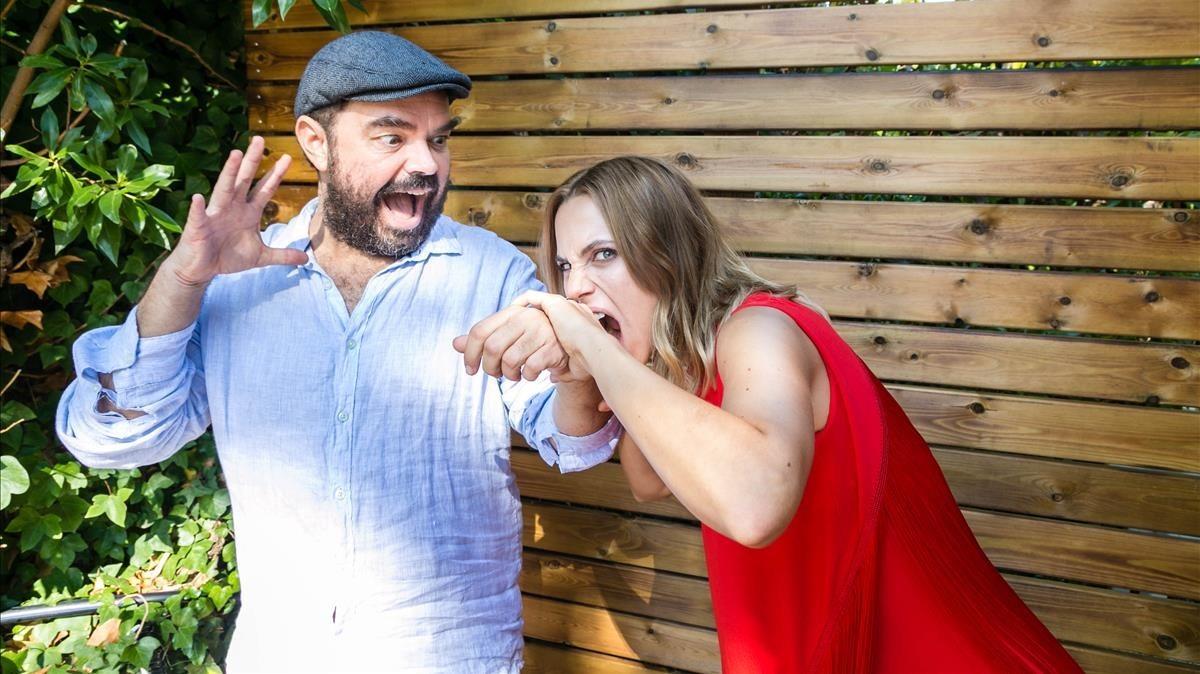 Xavier Gens y Aura Garrido, en Sitges, donde han presentado 'La pell freda'