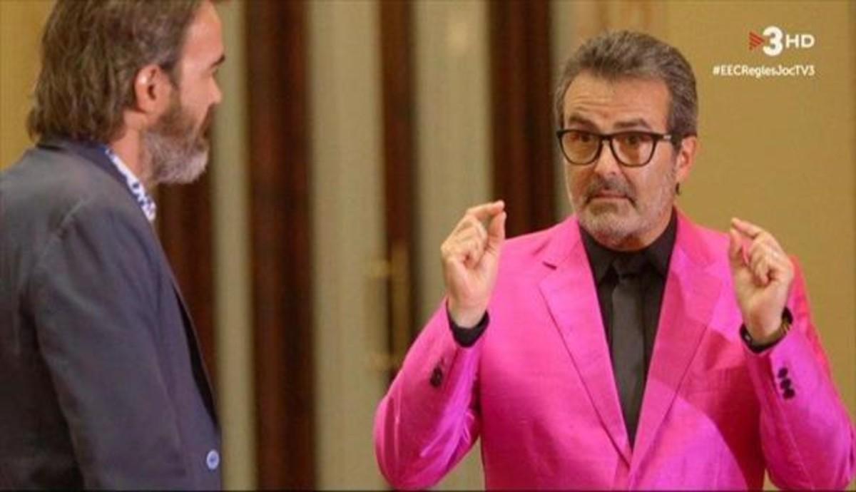 Xavier Sala i Martín con Tian Riba (TV-3).