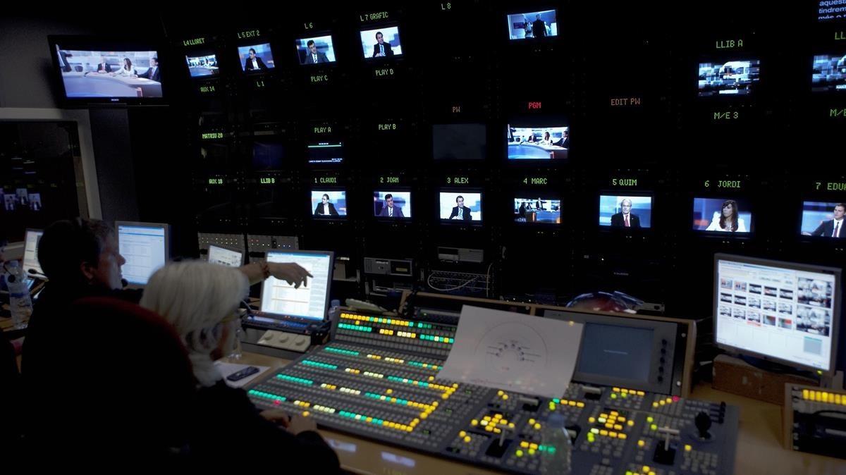 Control de realización de TV-3.