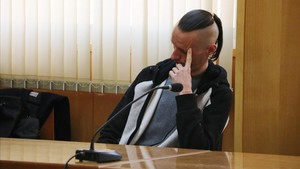 Stanislav R., el asesino confeso de Meritxell Vall, durante el juicio.