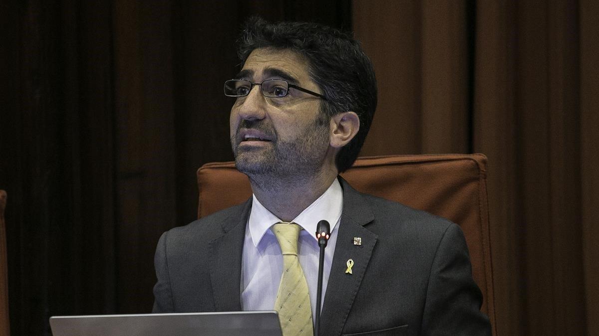 Jordi Puignerò en una comparecencia en el Parlament.