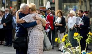 Les fotos de l'homenatge a les víctimes del 17-A