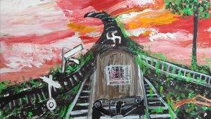 Pintura sin título de Ceija Stojka.