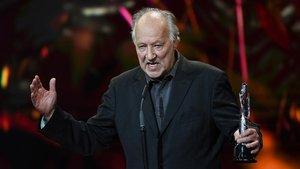 Werner Herzog, en la gala de los premios de la Academia de Cine Europeo, en Berlín, el sábado pasado.