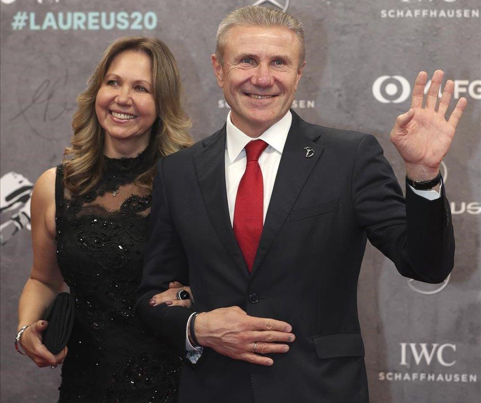 El expertiguistaucraniano SergeiBubka y su mujer, Lilia.