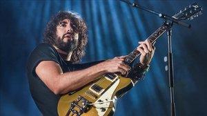 Mikel Izal, en un concierto en Barcelona en febrero pasado.