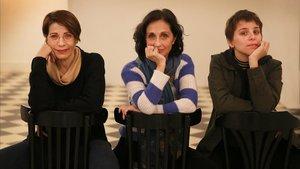De izquierda a derecha, Emma Vilarasau,Sílvia Munt y Nausicaa Bonnín.