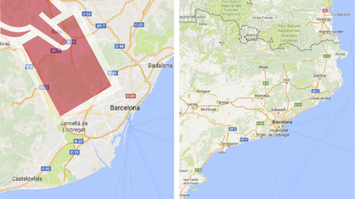 El mapa de los incidentes del referéndum en Catalunya