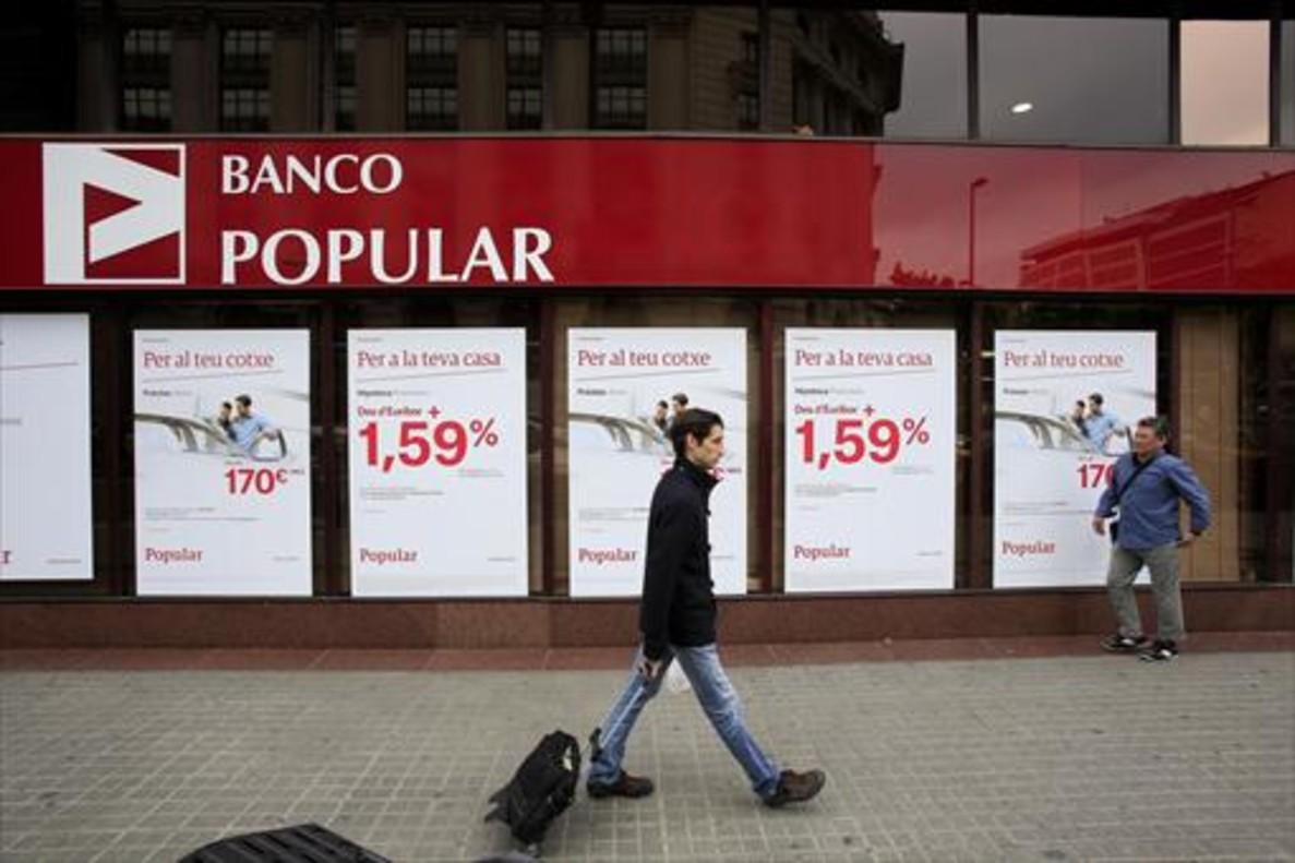 Oficina del Banco Popular en Barcelona.