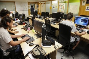 <b>SEGURIDAD DIGITAL.</b> Informáticos del CERT, centro de respuesta ante ataques.