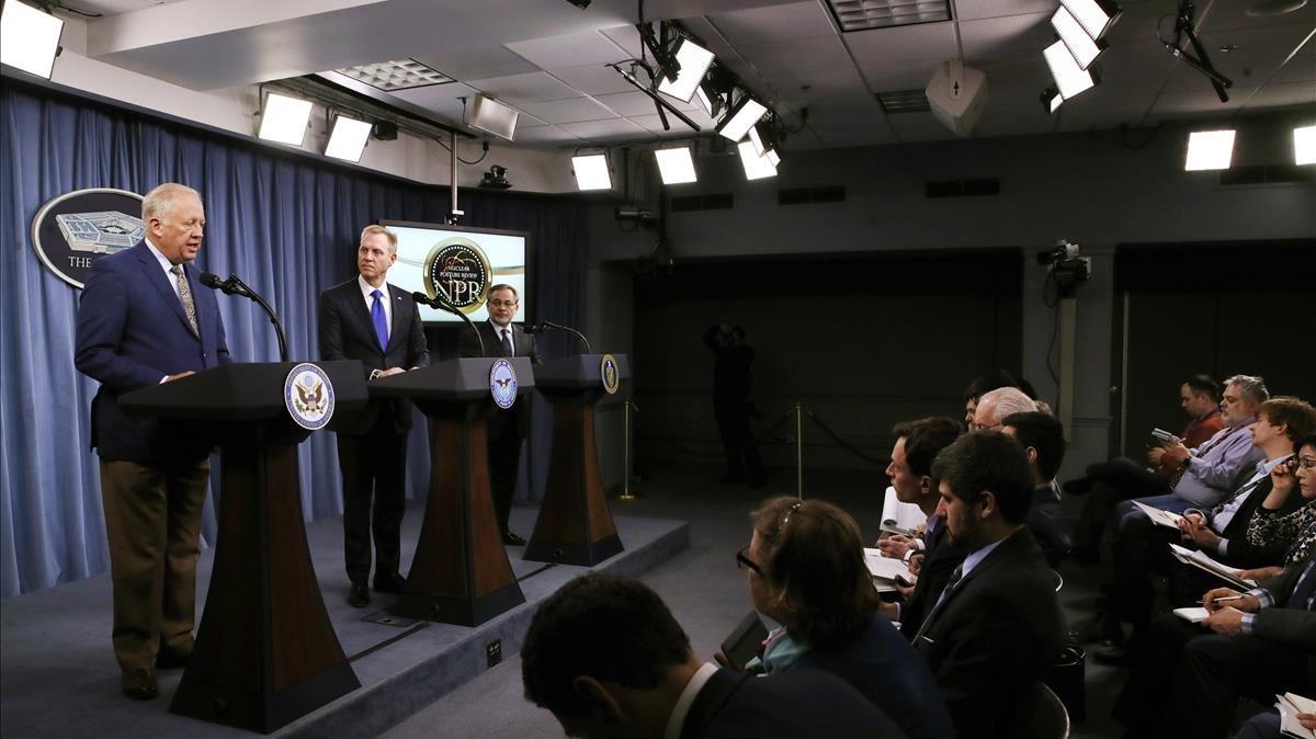Presentación de la nueva estrategia nuclear de EEUU en el Pentágono