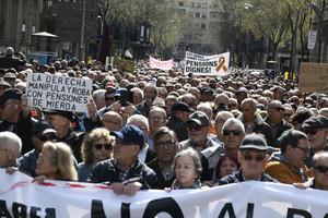 Manifestación de pensionistas en Barcelona