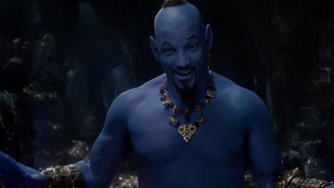 Will Smith es fica en la pell blava del geni d'Aladdin