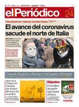 La portada de EL PERIÓDICO del 24 de febrero del 2020