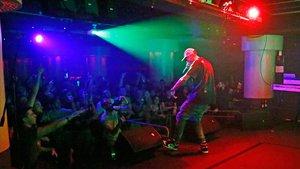 Actuacion del rapero italiano Noyz Narcos en la nueva sala de conciertos The Wolf