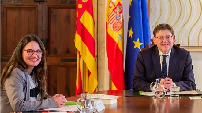 El adelanto electoral en Valencia enfrenta a Ximo Puig y Mónica Oltra.