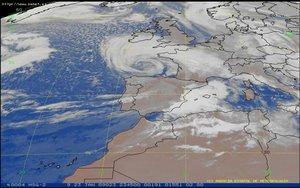 Imagen satelital de las condiciones climatológicas.