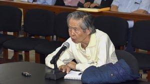 Fujimori declara anteel tribunal de Lima en una imagen de archivo.