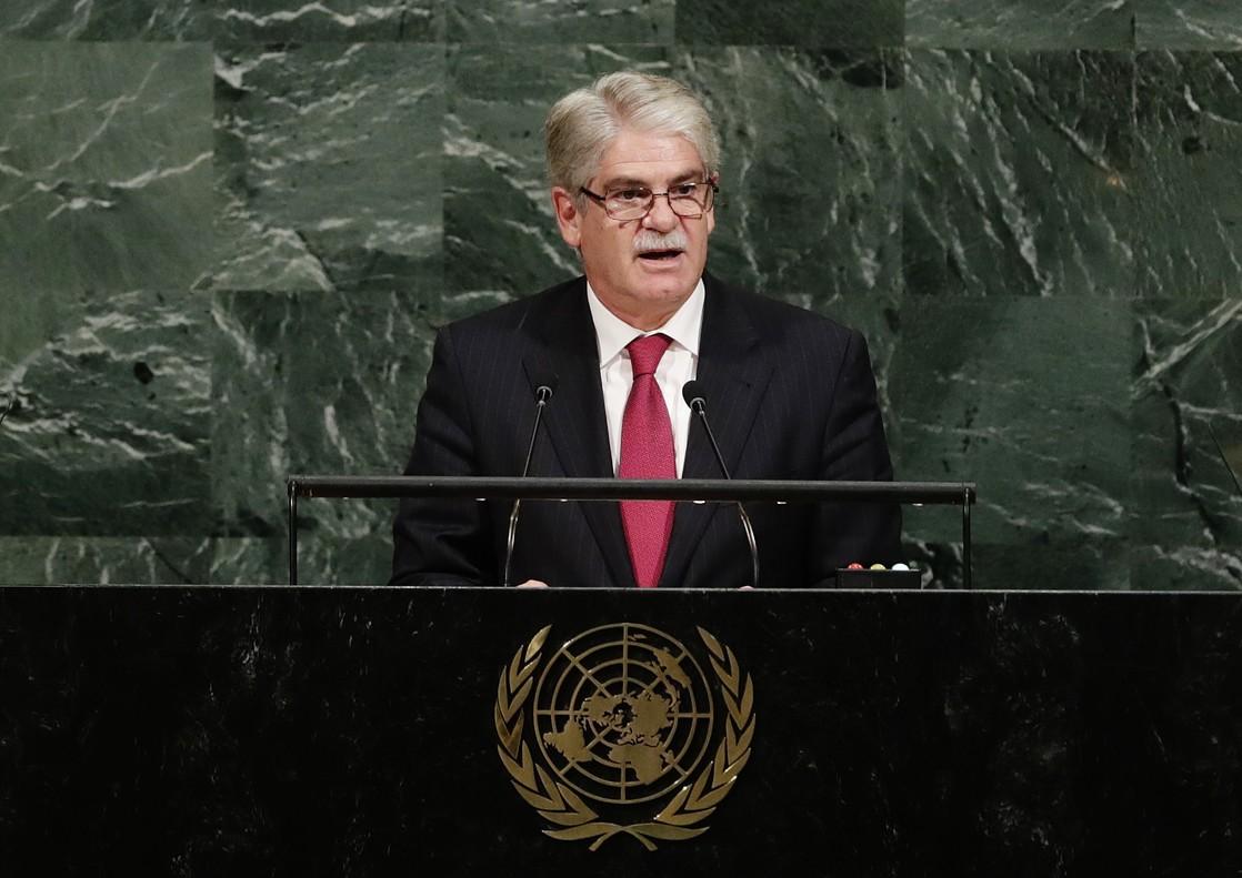 El ministro de Exteriores, Alfonso Dastis, en la ONU.