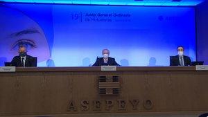 La dirección ejecutiva de Asepeyo, en la presentación de los resultados del ejercicio del 2019 ante la asamblea general de accionistas.