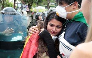 Protestas por los resultados electores en Bolivia.