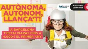 Campaña ¡Llançat! del Ayuntamiento de Barcelona.