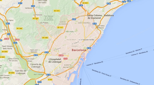 Captura de Google Maps en versión navegador de escritorio.