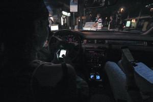 El conductor de un coche que utiliza Uber.