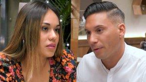 Cristina y Borja en 'First Dates'.
