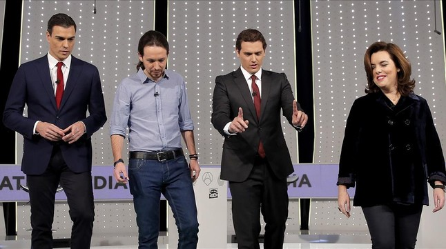 El debate a cuatro en Atresmedia del pasado lunes.