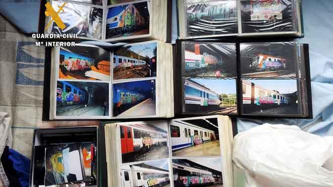 Detenidos cuatro grafiteros de una red que pintaba en trenes de España y Europa.