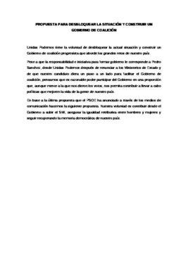 El documento de Podemos