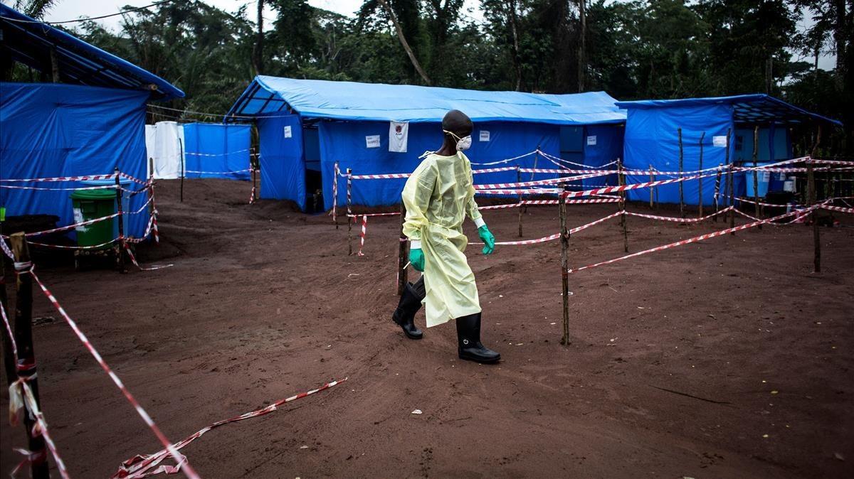 Unidad de cuarentena contra el ébola en Muma (República Democrática del Congo), en junio del 2017.