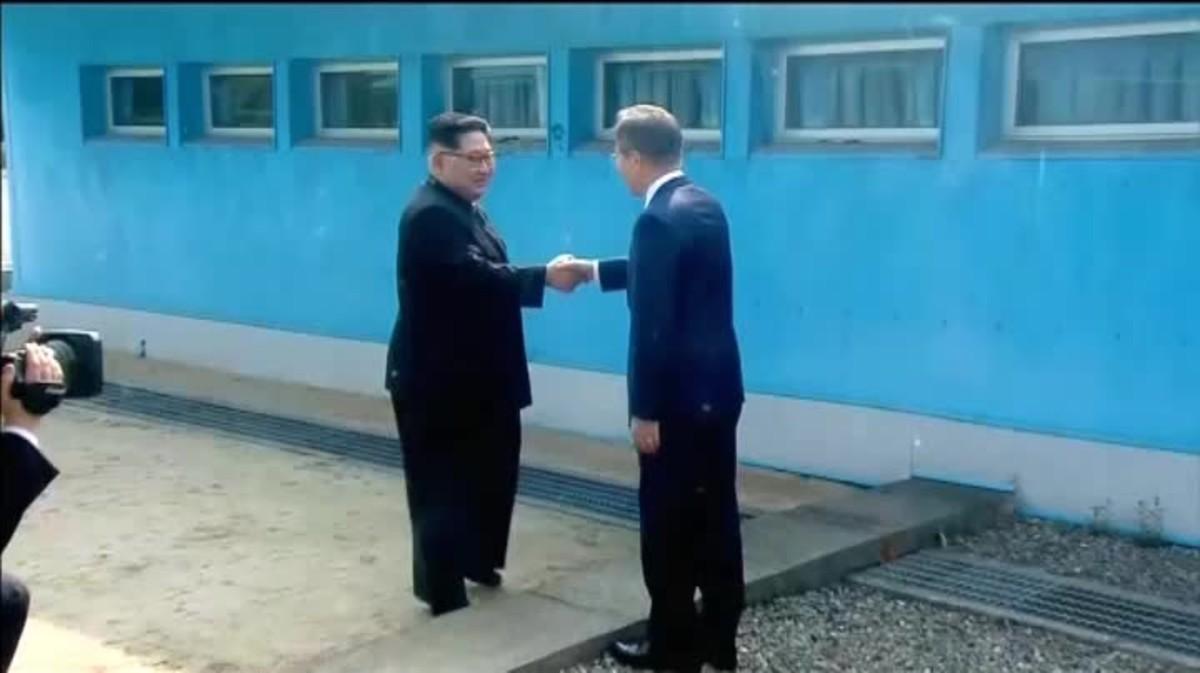 Es un momento distendido antes de la histórica cumbre.