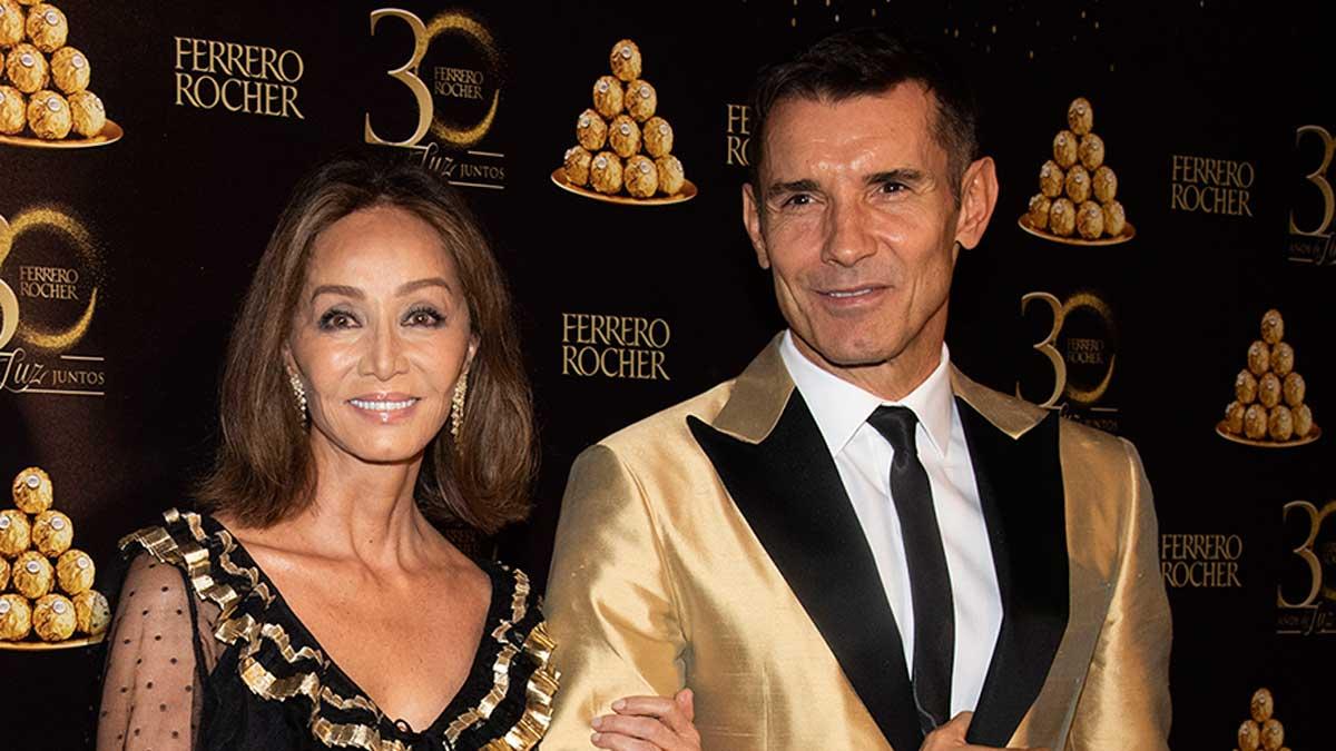 Isabel Preysler y Jesús Vázquez, en la celebración de los 30 años de Ferrero Rocher.