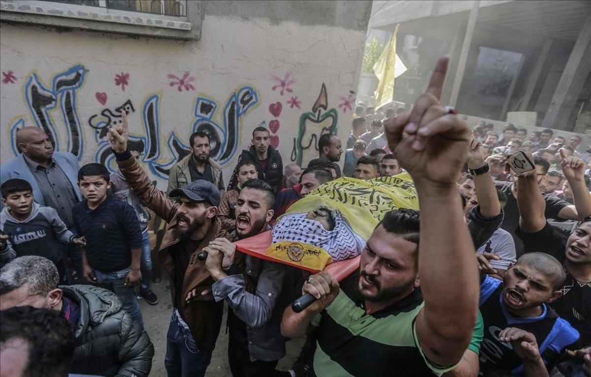 Funeral del líder de la Yihad Islámica asesinado por Israel en Gaza.