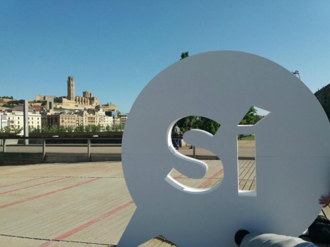 Sí gigante a favor de la independencia en Lleida