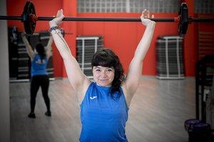 Sandra Parra, monitora de gimnasio en el CEM, en una foto de archivo.