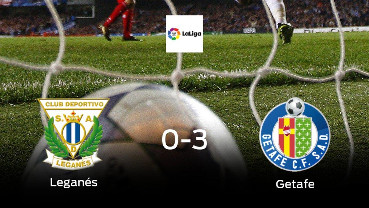 Goleada del Getafe en el estadio del Leganés (0-3)