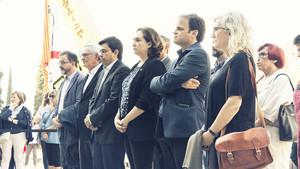 Homenaje a Companys del Ayuntamiento de Barcelona.