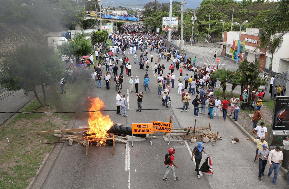 Protestas sociales y manifestacionesen Honduras.