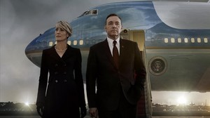 Robin Wright i Kevin Spacey, protagonistes de 'House of cards'.