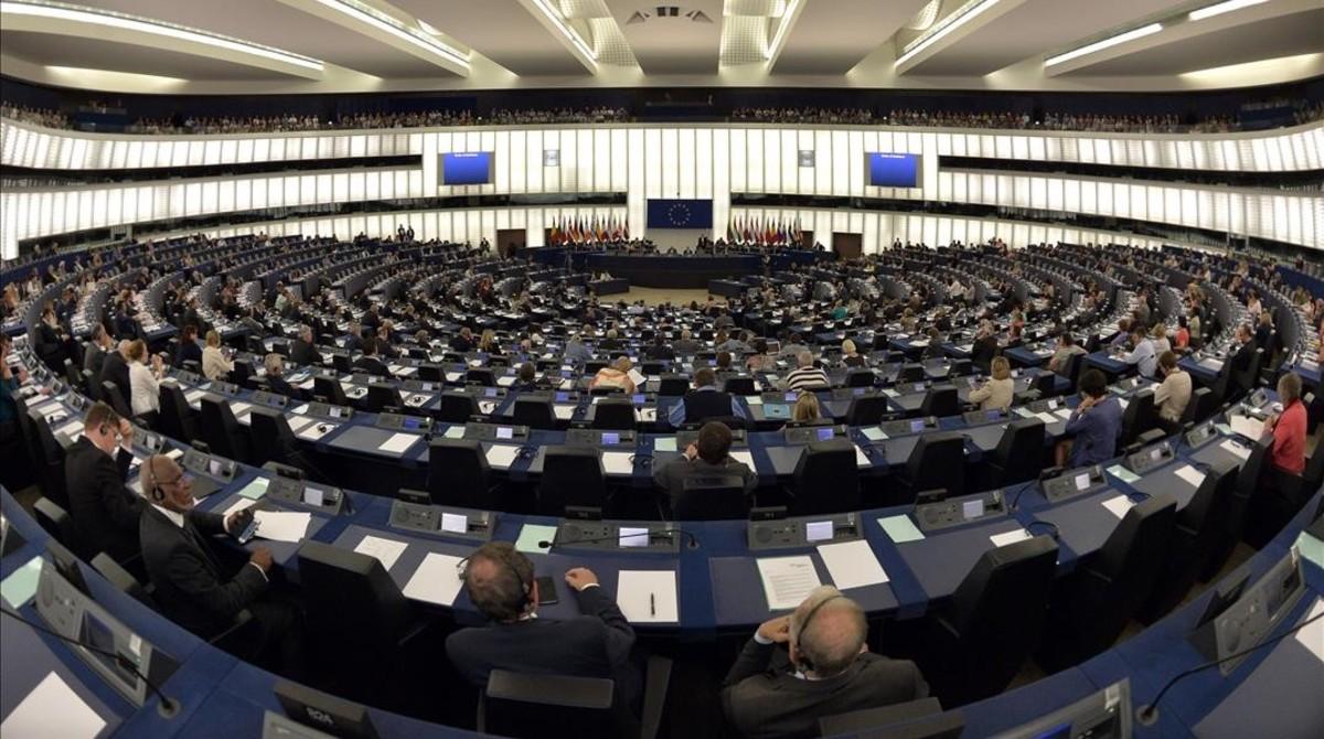 Vista del salón de plenos del Parlamento Europeo.